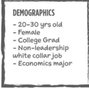 user personas demographics example