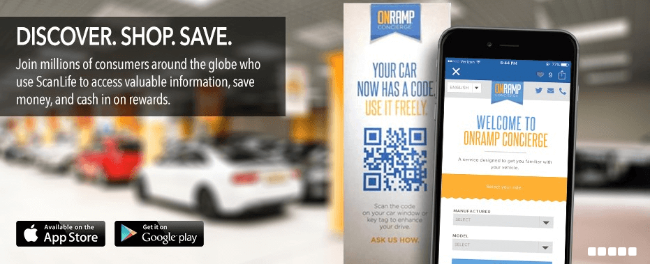 Ad for using QR codes to shop and save
