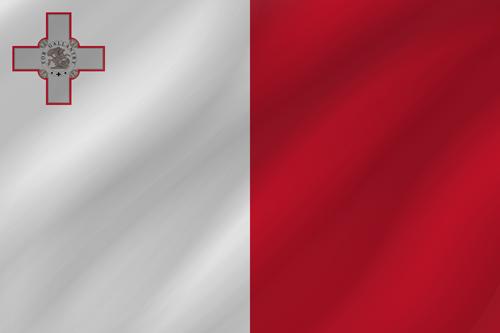 Malta flag small waving