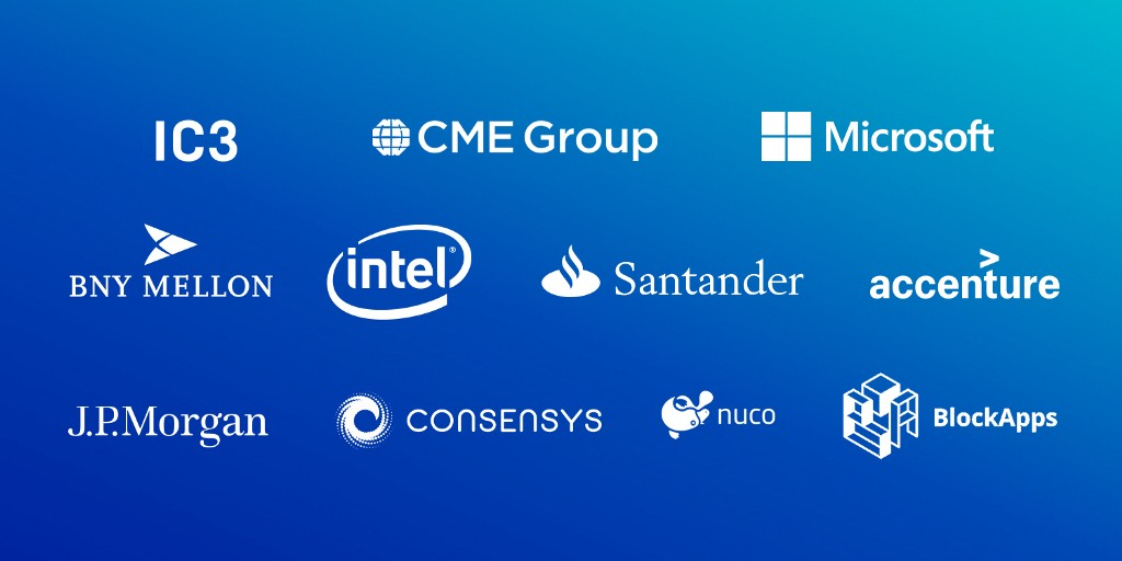 blue top crypto companies and logos