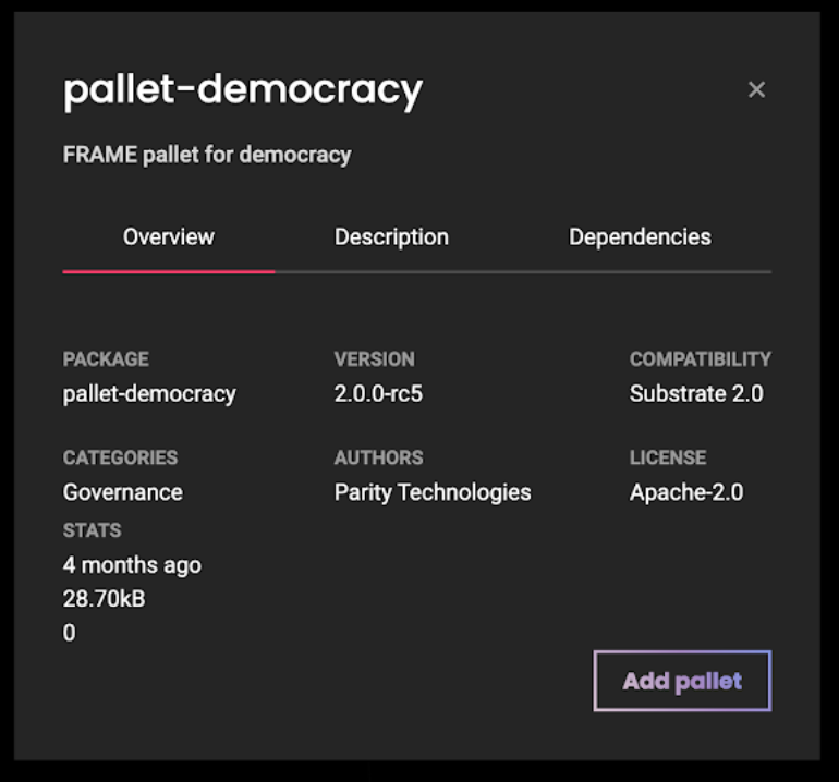 Substrate pallet democracy chooser