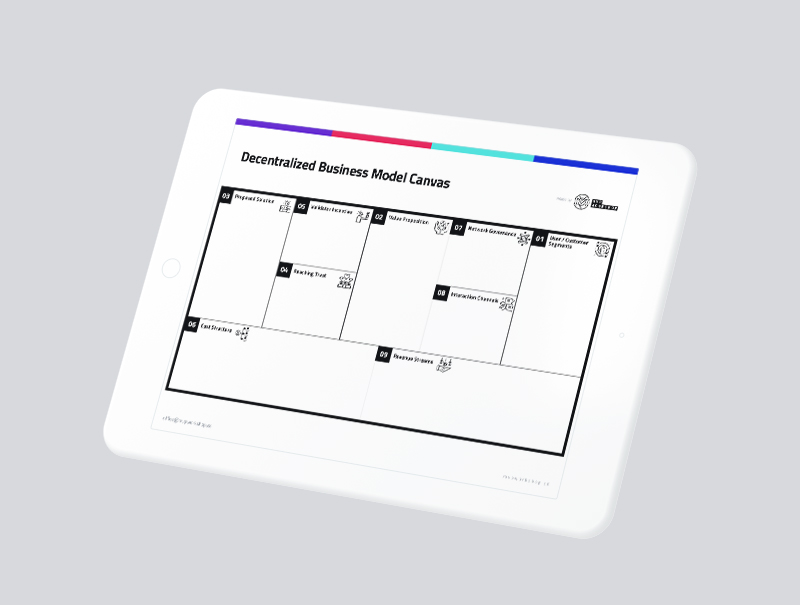 decentralized business model canvas mockup